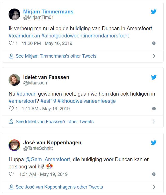 Huldiging Duncan
