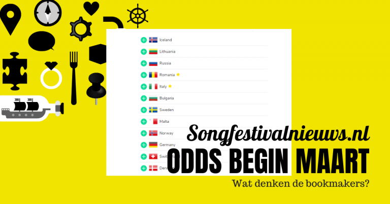 Songfestival 2021 Bookmakers